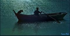 Juan, el poeta ermitaño 12 (susanamule) Tags: rocha uruguay ury lagunaderocha juan poetaermitaño perro bote agua luna luzdeluna susanamule sudamérica
