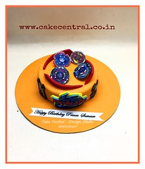 Beyblade Cake #beyblade # #designercake #delhi #fondant #themed #kidscake #newdelhi #boys #kids #sports #gurgaon #noida #customised #personalised #cake #birthday (Cake Central-Design Studio) Tags: firstbrthday designercake delhi fondant themed kidscake