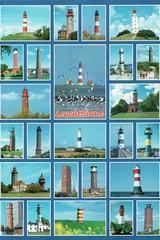Lighthouses, Germany (Liz Pidgeon) Tags: postcard lighthouse blue germany