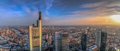 Mainhattan, Frankfurt (creati.vince) Tags: aerial architecture cityscape creativince frankfurt germany maintower mainhattan panorama skyscraper sunset