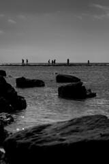 __i_i__i_ii___i___i__ (parenthesedemparenthese@yahoo.com) Tags: dem bw backlighting blackwandwhite couple ete monochrome nb noiretblanc people rocks silhouettes sky canoneos600d ciel day ef50mmf18ii exterieur italia italie italy journée mer outdoors paisible paysage peacefull personnes rochers sea seascape seashore sicile sicilia summer été