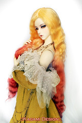 Firebird (Kimirra) Tags: bjd abjd kagamidesign angorawig alpaca alpacawig bjdalpacawig surialpaca mnf minifee minifeechloe fairyland colorfulhair colorfulwig soom clozel