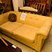 Gold mix fabric sofa bed ideal for rental property E100
