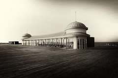 once upon a time.... (ChrisRSouthland) Tags: sepia bw hastings hastingspier vintagelook nikond800 zeissdistagon21mmf28 grain monochrome pier