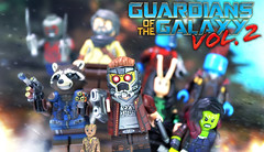 LEGO Guardians of the Galaxy Vol. 2 Preview (MGF Customs/Reviews) Tags: lego guardians galaxy vol 2 starlord gamora drax rocket raccoon yondu udonta baby groot mantis nebula ego the living planet custom figure minifigure