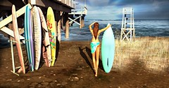 Catch A Wave (Charly Keating) Tags: pose surfing ocean summer beach lwposes