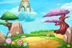 Illustration: Fantastic Forest Cartoon Land. Realistic Fantastic Cartoon Style Artwork Scene, Wallpaper, Game Story Background, Card Design (wallmistwallpaper) Tags: adventure air art asset background candy card cartoon castle cherry child clip cloud concept design drawing fairy fantastic fine flower forest game grass hill holiday illustration imaginary island land legendary magic magical mountain nature oriental paint postcard sakura scene scenery stone tale tranquil travel tree wallpaper wish wonderful wonderland world