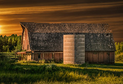 It Was Enough (henryhintermeister) Tags: barns minnesota oldbarns clouds farming countryliving country sunsets storms sunrises pastures nostalgia skies outdoors seasons field hay silos dairybarns building architecture outdoor winter serene grass landscape plant cloudsstormssunsetssunrises