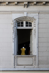Mannequin on the window (//unpic Photography) Tags: chile urban candid cities street architecture santiago window voyer buildings mannequin