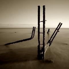 Groyne (Pedrosky.) Tags: longexposure sea seascape folkestone folkestonewarren kent sepia groyne
