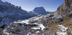 View on Sassolungo (Langkofel) (Twilight Tea) Tags: january 2017 italy kolfuschg colfosco altabadia corvara dolomites dolomiti southtyrol südtirol sassolungo langkofel