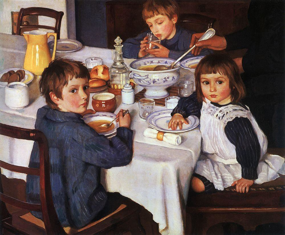Zinaida_Serebryakova_(1914)_At_Breakfast