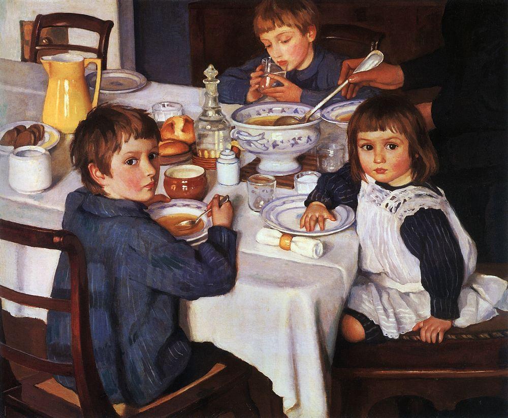 Zinaida_Serebryakova_(1914)_At_Breakfast