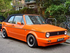 Bright Orange Golf (sander_sloots) Tags: golf volkswagen car cabriolet auto kappeynestraat rotterdam oranje convertible automobile 38rvfl
