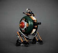 Ankan VII - Tesla series walker (adde51) Tags: foitsop adde51 lego moc steampunk walker mech mecha cannon green tesla ruinsofsanvictoria ruins san victoria robot gold ankan vii