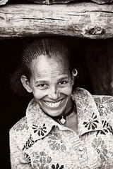 Tigray Woman (Rod Waddington) Tags: africa african afrique afrika adigrat tigray ethiopia ethiopian ethnic etiopia ethnicity ethiopie etiopian portrait blackandwhite sepia woman traditional earing