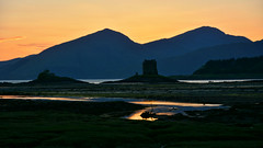 Castle Stalker sunset (andrewmckie) Tags: scotland stalker castlestalker castle sunset outdoor landscape mountains explored