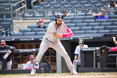 Astros second baseman Marwin Gonzalez takes a pitch during the second inning. (apardavila) Tags: houstonastros mlb majorleaguebaseball marwingonzalez newyorkyankees yankeestadium yankees yanks baseball sports