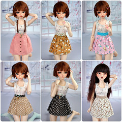 Minifee skirts for adoption; (nekomuchuu63) Tags: minifee fs fa bjd doll fairyland msd 14 clothes skirt polka dot fairy kei cute slim mini ball jointed for adoption