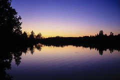Afterglow (peterwaller) Tags: sunset color colourful reflection ripple calm serene reservoir silhouette
