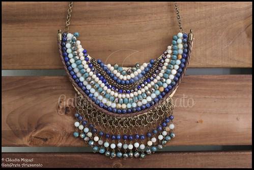 """Maxi-colar """"Shades of Blue"""" (colecção Primavera-Verão 2017)"""