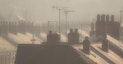 Barnetby Chimneys (Julian Barker) Tags: barnetbylewold lincolnshire england uk chimneys rooftops houses terraced pattern frost compressed perspective atmosphere old julian barker canon dslr 600 victoria road