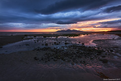 Minerstown Beach (dareangel_2000) Tags: dariacasement minerstown beach downpatrick codown countydown northernireland sand ice fire sunset sundown twilight dusk daysend mountains mournemountains mournes landscape seascape
