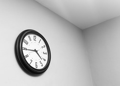 Walled in by time (Blaine Linton) Tags: time clock times clocks cube cubes room rooms black white still life tick tock light shadow passing pass future past piece art artistic shadows gray timeless timelessness frozen