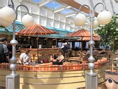 Holland America ~ ms Zaandam (karma (Karen)) Tags: cruising hollandamerica mszaandam poolarea benches chairs umbrellas lamps hbm cmwd