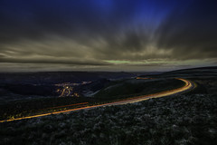 Bwlch (Nic Taylor Photography) Tags: commercialphotographer photographermerseyside photographersthelens stockphotographer sony sonyalpha sonyilce7r sonya7r a7r commlite canon canon1635f4is lighttrails mountain rhondda rhonddavalley bwlch wales landscape nighttime night sunset