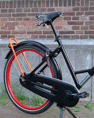 WorkCycles Gr8 Black-Red-Orange-2 (@WorkCycles) Tags: amsterdam bicycle bike city custom dutch fiets gr8 ladies stadsfiets workcycles