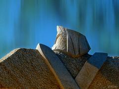 Titán (Franco D´Albao) Tags: francodalbao dalbao lumix escultura sculpture neptuno moaña galicia poseidón granito granite piedra stone