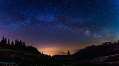 Milkyway Panorama (Benjamin Schwitz) Tags: canonef1635mmf28liiusm milchstrasse milkyway canon eos 6d lightroom stars sterne licht longexposure langzeitbelichtung kanton bern gurnigel night nacht lightpollution lichtverschmutzung switzerland swiss suisse schweiz sommer house haus flowers blume nature natur ef1635mm explore entdecken trees bäume outdoor