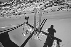 Ready! (duiliof) Tags: chile mochochoshuenco nature naturaleza environment huilo ski touring snow winter randonne outdoor shadow black white bw
