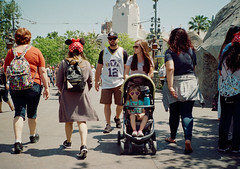 (Sean Davis) Tags: anaheim disneyland lomo100 film people strollers