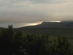 Shimmering Sea (My photos live here) Tags: eastbourne east sussex england i phone 5s beachy head downland estate chalk cliffs english channel sea sunset shimmering south downs national park