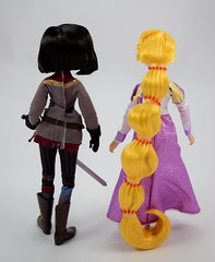 Rapunzel and Cassandra Doll Set - Tangled: The Series - Disney Store Purchase - Deboxed - Free Standing - Full Rear View (drj1828) Tags: us disneystore tangled tangledtheseries doll 2017 purchase posable 10inch 2d deboxed rapunzel cassandra