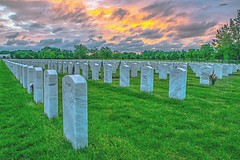 Memorial Day (Doug Wallick) Tags: ftsnelling cemetery national military memorial day minnesota green sunrise holiday 2017