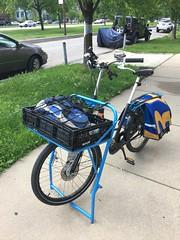 New Fr8 bin on the Massive Rack (Steven Vance) Tags: fr8 workcycles bikechi bicycle cargobike
