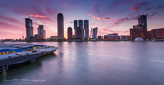 Panoramic of Rotterdam. (BrownyNL) Tags: kopvanzuid rotterdam landscape landschap europa city europe netherlands zuidholland stad landmarkphotographynl skyline nederland sunset