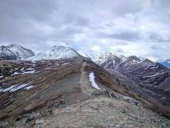 Baldy Ridgeline (upsbossman) Tags: mountian hiking baldy ridgeline snow alaska anchorage nexus6p