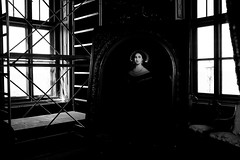 (willy vecchiato) Tags: biancoenero monocramatico blackandwhite monochrome fine art picture portrait work abstract 2017 progress painting woman indoor interno fuji x100s dark darker grain grainy artistic architecture architettura surrealism concept candid conceptual concettuale