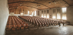 Applause fade out (No Stone Unturned Photography) Tags: abandoned auditorium school urbex seats rows dust southern panoramic