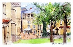 Sarlat - Dordogne - Aquitaine - France (guymoll) Tags: sarlat dordogne aquitaine france croquis sketch watercolour watercolor aquarelle