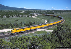 Streamliner in Tintic Valley (jamesbelmont) Tags: locomotive e9a lofgreen utah passenger nrhs