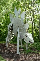 Stegosaurus (Glass Horse 2017) Tags: middlesbrough publicart dinosaur metal sculpturetrail skeleton painted teessauruspark stegosaurus graffiti