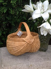 Egg basket original (Nutmegbasketry) Tags: eggbasket ribbasket handwoven basketry basketmaker newenglandhandmade basket