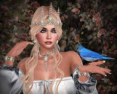 Compare Thee To A Summer's Day (lauragenia.viper) Tags: bento bridalfair chloe foxcity glamaffair lelutka maitreya secondlife secondlifefashion valentinae ysys zurijewelry bride bridal shakespeare jewelry tiara necklace bracelet earrings wedding bird bluebird avatar girl woman virtual