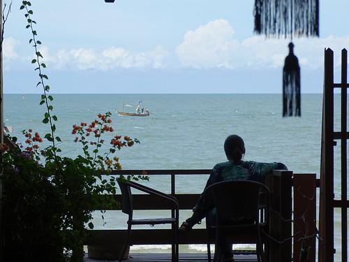 Balcony Scene at Sukkasem Guesthouse - Hua Hin - Thailand