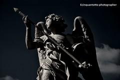 TOSCA (Ecinquantotto ( + 1.150.000 ...grazie !! )) Tags: architettura architecture art arte angel angeli angels bn bw blackwhite colori clouds colors castelsangelo d3000 dreams dream italia italy immagination marmo nikon nikond3000 nuvole ombre spqr rome roma tosca